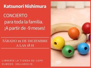 Cartel concierto familiar Katsu 19 diciembre 2015
