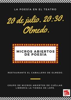 Cartel Micros abiertos JUEVES DRAMÁTICOS