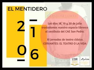 Promo Jornadas El Mentidero 18, 19 y 20 julio