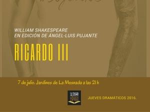 Ricardo III promo face 7 julio